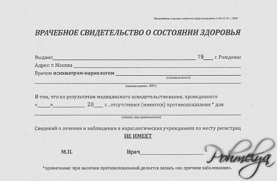 Оформление водительской справки в Москве Западное Дегунино