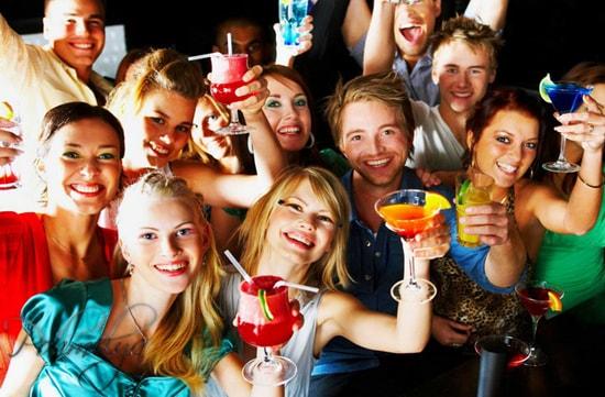 банкет с употреблением алкоголя