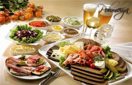 еда при употреблении алкоголя