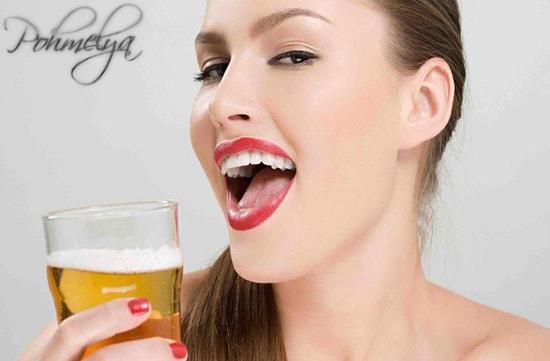 gelanie vipit pivo pohmelya