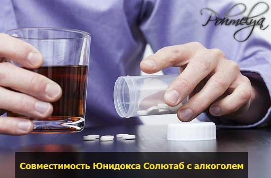 Юнидокс солютаб и алкогольные напитки